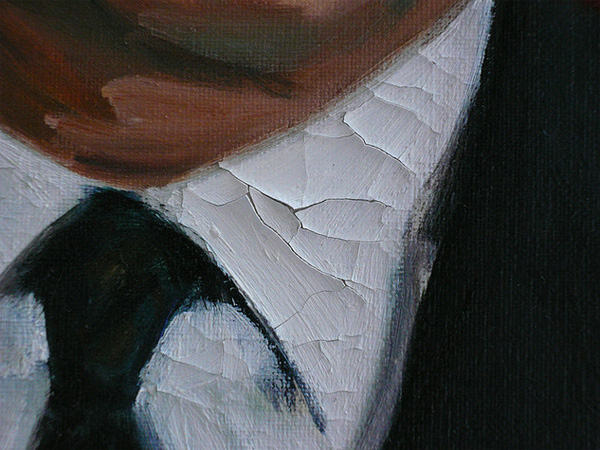絵具層の亀裂(ひび割れ)