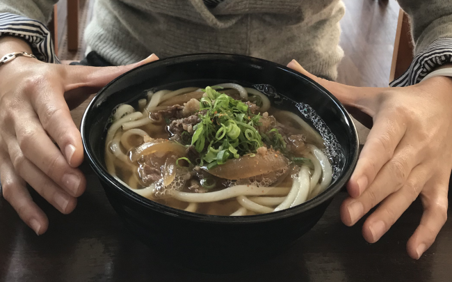 仏生山温泉【肉うどん】